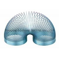 China Blue Colored Metal Springy , Metal Coil Spring Toy Eco Friendly Material on sale
