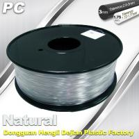 Quality Good Transmission of Light PC 3D Printer Transparent Filament 1.75mm / 3.0mm wholesale