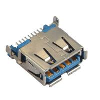 Quality Computer Pin Connectors Right Angle SMT blue color  Sink Style 3.5mm LCP UL94V-0 wholesale