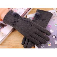 Cheap Micro Velvet Womens Fleece Gloves , Soft Smatouch Gloves With Fur Lining for sale