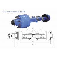 China Drum Axles Performance Truck Parts American Type Axles In-Board Axle 8T - 20T on sale