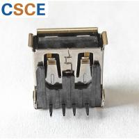 China USB Male Female Connector USB 2.0 AF Type DIP Connector 90 degrees With Curls on sale