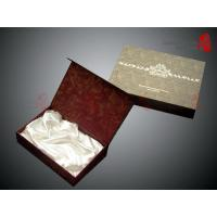 Quality CMYK Color Custom Gift Packaging Boxes With White Color Silk Inlay wholesale