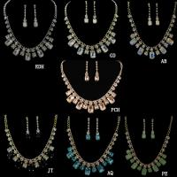 China Colorful Glass Crystal JEWELRIES GOLD PLATED JEWELRY Set on sale