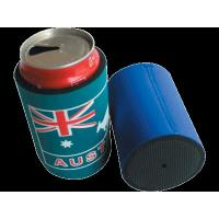 Cheap 300ml 12OZ Cheap Promotional Multicolou Neoprene Tube Can cooler, Foldable Can Shape Cooler, Rubby Beer Can Cooler for sale