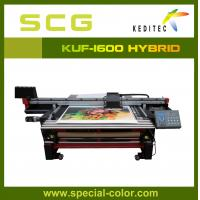 China large format uv flatbed  printer KUF1600.lightbox,roll up display.bill board on sale