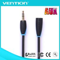 China Male to Female Custom Aux Audio Cable Blue and Black Audio Cables for Computer on sale