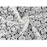 Quality Chemical Poly Milk Water Soluble Lace Fabric For Women Garment wholesale