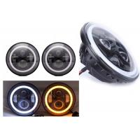 "Quality 70W 7"" Angel Eye Jeep LED Headlights High / Low H4 Or H13 Jeep Jk Halo Headlights wholesale"