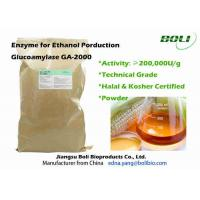 Quality Industrial Powder Glucoamylase Enzyme GA - 2000 Faster Fermentation Efficacy For Ethanol wholesale