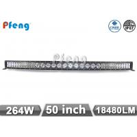 Quality 50 Inch Cree Led Light Bar 264W Middle 10W Beside 3W LED Curved Light Bar wholesale