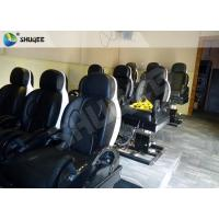 Quality 3 DOF Pneumatic System 5D Movie Theater Luxury Black Chair Yellow 3D Glasses wholesale