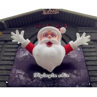 Quality 4m Height Christmas Inflatable Santa Claus for Outdoor Wall Decoration wholesale
