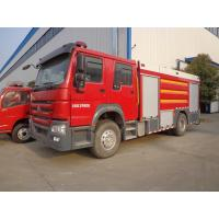 Quality Emergency Rescue Fire Truck , HOWO 8 Tons Foam Fire Truck Good Performance wholesale
