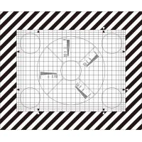 Quality SineImage NJ-10-100A Reflective/Transparent Grid Test Chart  for operational adjustment and control of TV cameras wholesale