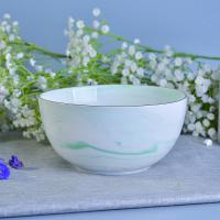 Quality Green Marble Ceramic Candle Bowl Vessels Wedding Decoration OEM service wholesale