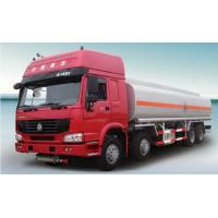 Quality 8 * 4  Fuel Tanker Truck diesel engine With ZF8098 Steering System wholesale