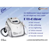 Quality Portable  IPL RF ND YAG Laser Hair Removal Machine For Acne Treatment wholesale