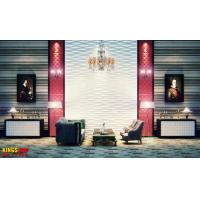 Cheap Polyvinyl Chloride Home Decor Wallpapers Stereoscopic Textured 3D Wall Panel for Exhibition for sale