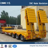 Quality tri-axle 60 ton low bed semi trailer with hydraulic ramps wholesale