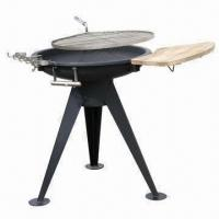 China Outdoor charcoal barbecue grill, made of stainless steel on sale