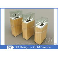 Quality Durable Wooden Veneer Custom Glass Display Cases / Exhibition Display Stands wholesale