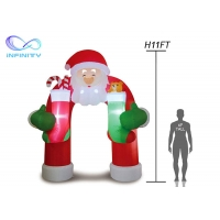 Quality 210D  Christmas Inflatable Santa Archway For Advertisement wholesale