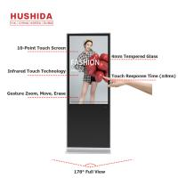 Quality 1920*1080 Interactive Digital Signage Touch Screen Monitor 350-500cd/㎡ Brightness wholesale