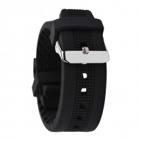 China 22mm Mens Rubber Watch Bands Breathable SGS ROHS passed on sale
