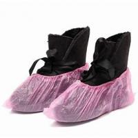 Quality PP PE Coating Water Resistant Shoe Covers Protective Nonwoven Anti Skip wholesale