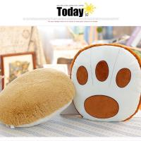 China Bear Paw Shape Soft Chair Cushions , PP Cotton Filling Chair Cushion Pads on sale