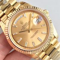 Buy cheap Wholesale 2016 Rolex Day-Date 228239 Full Yellow Gold 40mm Automatic 3255 Gold Dial Diamonds Marks Fluted Bezel Watch from wholesalers
