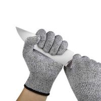 China Cut Resistant Gloves HPPE Fiber Food Grade Hand Protection Anti Cut Level 5 Safety Gloves on sale