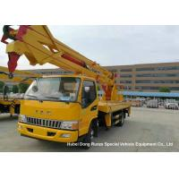 Quality Hydraulic Rising Truck Mounted Aerial Platform , 16-18 Meter High Altitude Trucks wholesale