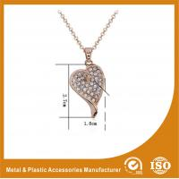Quality Customized Zinc Alloy Gold Heart Metal Chain Necklace For Women Gift wholesale