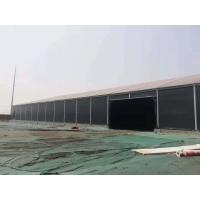 China Strong Durable Fire Retardant Storage Tents Black Aluminum Frame Industrial Tent on sale