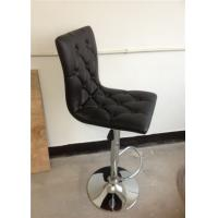 Quality square wood inside  PU bar stools with button in the back H-303E wholesale