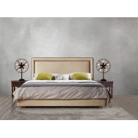 Quality 2017 new design of Leather / Fabric American style Bedroon furniture Upholstered headboard set bed/king size Bed wholesale