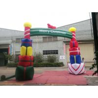Cheap Colorfull PVC Coated Nylon Inflatable Christmas Decorations / Blow Up Arch for sale