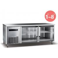 Quality Refrigerated Work Table For Kitchen 660L Commercial Refrigerator Freezer R134a Fan Cooling wholesale