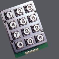 Quality 12 keys zinc alloy keypad with blue or white or red backlight optional for Taiwan wholesale