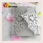 Quality Unique Wedding Invitation Card  Laser Cut  Customized size Logo wholesale