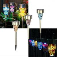 China 4 Color Changing Solar Powered Sensor Garden Lights RGB LED Lawn Lamp 0.06w on sale