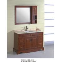 Quality Customized shapes narrow depth bathroom vanity , mahogany flush antique bathroom sink cabinets wholesale