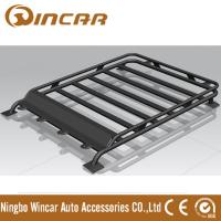 Quality 4x4 Roof Top Black Steel Luggage Rack With Light Brackets 130*105cm Size wholesale