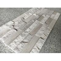 China White Wooden Marble Stacked Stone,China Serpeggiante Marble Culture Stone,Chenille White Stone Cladding,Zclad Panel on sale