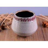 Quality Modern Personalized Ceramic Candle Holder , Concrete Candle Jars For Home Decoration wholesale