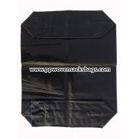 Quality Black PE Plastic Valve Sealed Bags for Packing Activated Carbon / 25kg Valve PE Sacks wholesale