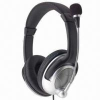 China Microphone Headphones/Headset, Perfect for Listening to Music, Online Chatting and Video Games on sale
