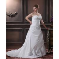 Quality High End Strapless Sweetheart Plus Size Designer Wedding Gowns , Laced Up Taffeta Fabric wholesale